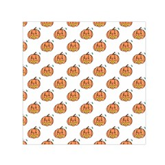 Face Mask Ghost Halloween Pumpkin Pattern Small Satin Scarf (square)