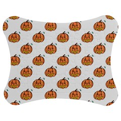 Face Mask Ghost Halloween Pumpkin Pattern Jigsaw Puzzle Photo Stand (bow) by Alisyart