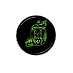Pumpkin Black Halloween Neon Green Face Mask Smile Hat Clip Ball Marker (10 Pack) by Alisyart