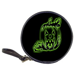 Pumpkin Black Halloween Neon Green Face Mask Smile Classic 20 Cd Wallets