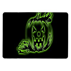 Pumpkin Black Halloween Neon Green Face Mask Smile Samsung Galaxy Tab 10 1  P7500 Flip Case