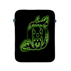 Pumpkin Black Halloween Neon Green Face Mask Smile Apple Ipad 2/3/4 Protective Soft Cases
