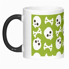 Skull Bone Mask Face White Green Morph Mugs