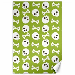 Skull Bone Mask Face White Green Canvas 20  x 30