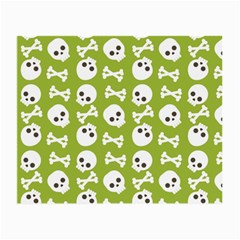 Skull Bone Mask Face White Green Small Glasses Cloth (2-Side)