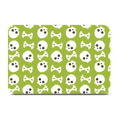 Skull Bone Mask Face White Green Plate Mats
