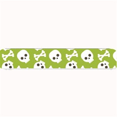 Skull Bone Mask Face White Green Small Bar Mats