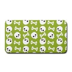 Skull Bone Mask Face White Green Medium Bar Mats