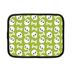 Skull Bone Mask Face White Green Netbook Case (Small)