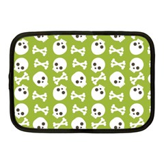 Skull Bone Mask Face White Green Netbook Case (Medium)