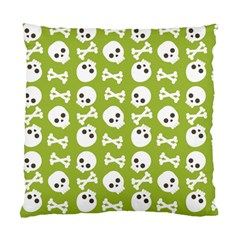 Skull Bone Mask Face White Green Standard Cushion Case (Two Sides)