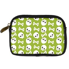 Skull Bone Mask Face White Green Digital Camera Cases