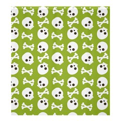 Skull Bone Mask Face White Green Shower Curtain 66  x 72  (Large)