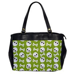 Skull Bone Mask Face White Green Office Handbags