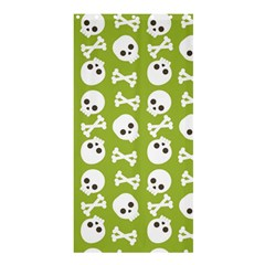 Skull Bone Mask Face White Green Shower Curtain 36  x 72  (Stall)