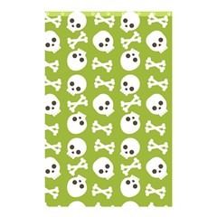 Skull Bone Mask Face White Green Shower Curtain 48  x 72  (Small)