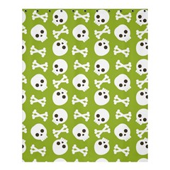 Skull Bone Mask Face White Green Shower Curtain 60  x 72  (Medium)
