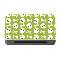 Skull Bone Mask Face White Green Memory Card Reader with CF