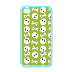 Skull Bone Mask Face White Green Apple iPhone 4 Case (Color)