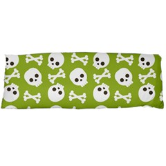 Skull Bone Mask Face White Green Body Pillow Case (Dakimakura)