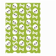 Skull Bone Mask Face White Green Small Garden Flag (Two Sides)