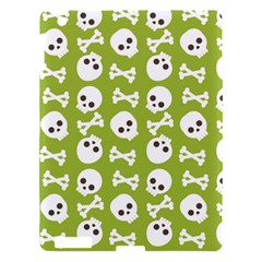 Skull Bone Mask Face White Green Apple iPad 3/4 Hardshell Case