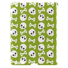 Skull Bone Mask Face White Green Apple iPad 3/4 Hardshell Case (Compatible with Smart Cover)