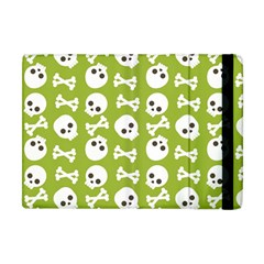 Skull Bone Mask Face White Green Apple iPad Mini Flip Case