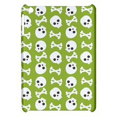 Skull Bone Mask Face White Green Apple iPad Mini Hardshell Case