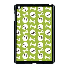 Skull Bone Mask Face White Green Apple iPad Mini Case (Black)