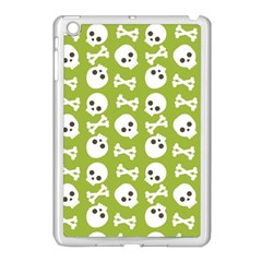 Skull Bone Mask Face White Green Apple iPad Mini Case (White)