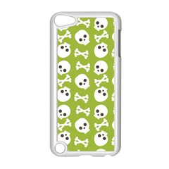 Skull Bone Mask Face White Green Apple iPod Touch 5 Case (White)