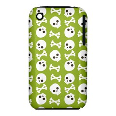 Skull Bone Mask Face White Green iPhone 3S/3GS