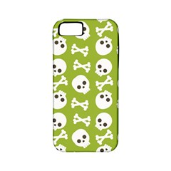 Skull Bone Mask Face White Green Apple iPhone 5 Classic Hardshell Case (PC+Silicone)