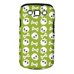Skull Bone Mask Face White Green Samsung Galaxy S III Classic Hardshell Case (PC+Silicone)