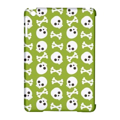 Skull Bone Mask Face White Green Apple iPad Mini Hardshell Case (Compatible with Smart Cover)