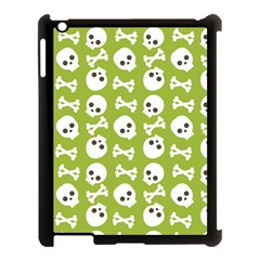 Skull Bone Mask Face White Green Apple iPad 3/4 Case (Black)