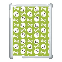 Skull Bone Mask Face White Green Apple Ipad 3/4 Case (white)