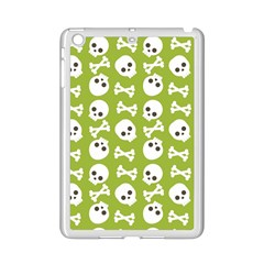 Skull Bone Mask Face White Green iPad Mini 2 Enamel Coated Cases