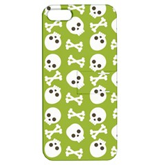 Skull Bone Mask Face White Green Apple iPhone 5 Hardshell Case with Stand