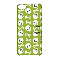 Skull Bone Mask Face White Green Apple iPod Touch 5 Hardshell Case with Stand