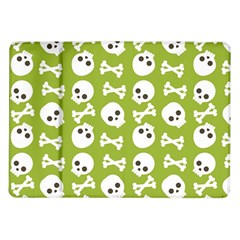 Skull Bone Mask Face White Green Samsung Galaxy Tab 10.1  P7500 Flip Case