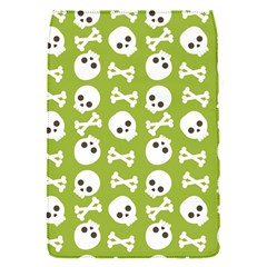 Skull Bone Mask Face White Green Flap Covers (S)