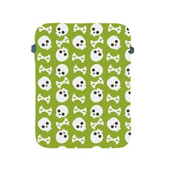 Skull Bone Mask Face White Green Apple iPad 2/3/4 Protective Soft Cases