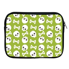 Skull Bone Mask Face White Green Apple iPad 2/3/4 Zipper Cases
