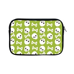 Skull Bone Mask Face White Green Apple iPad Mini Zipper Cases