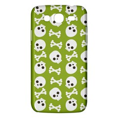Skull Bone Mask Face White Green Samsung Galaxy Mega 5.8 I9152 Hardshell Case