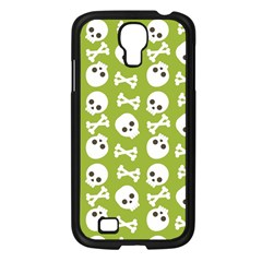 Skull Bone Mask Face White Green Samsung Galaxy S4 I9500/ I9505 Case (Black)