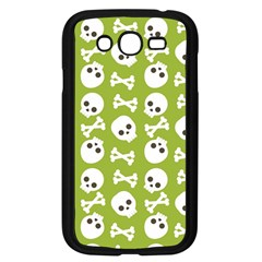 Skull Bone Mask Face White Green Samsung Galaxy Grand DUOS I9082 Case (Black)