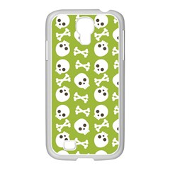 Skull Bone Mask Face White Green Samsung GALAXY S4 I9500/ I9505 Case (White)